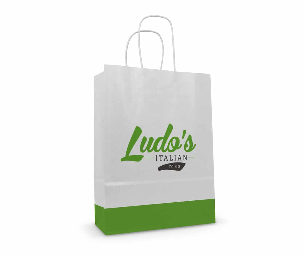 Branding & printed paper carrier bag