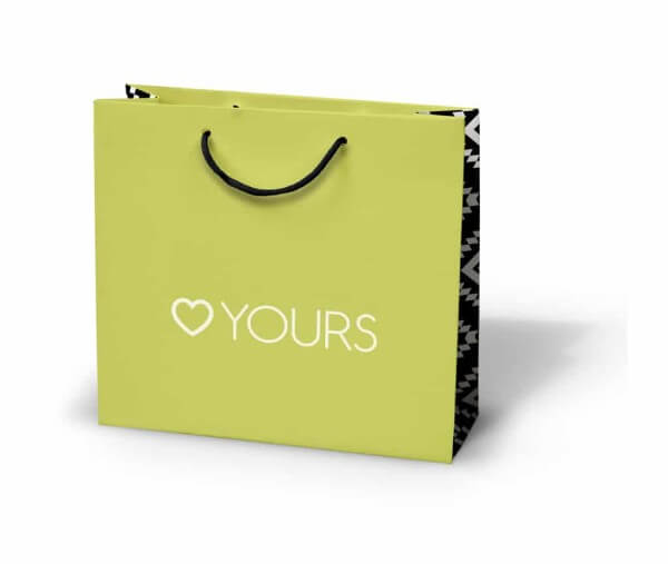 Yours Clothing custom printed laminated paper bag