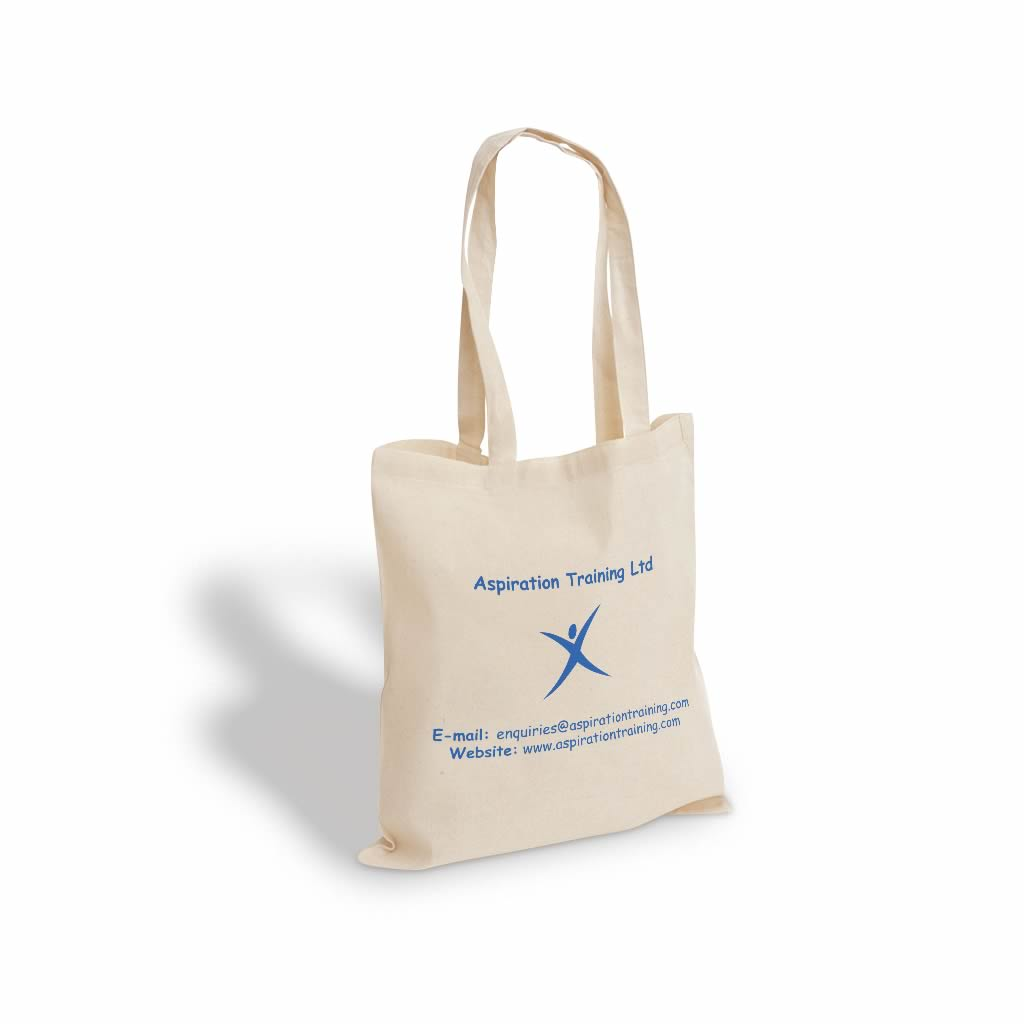 Printed cotton bags | Aspiration Training Ltd