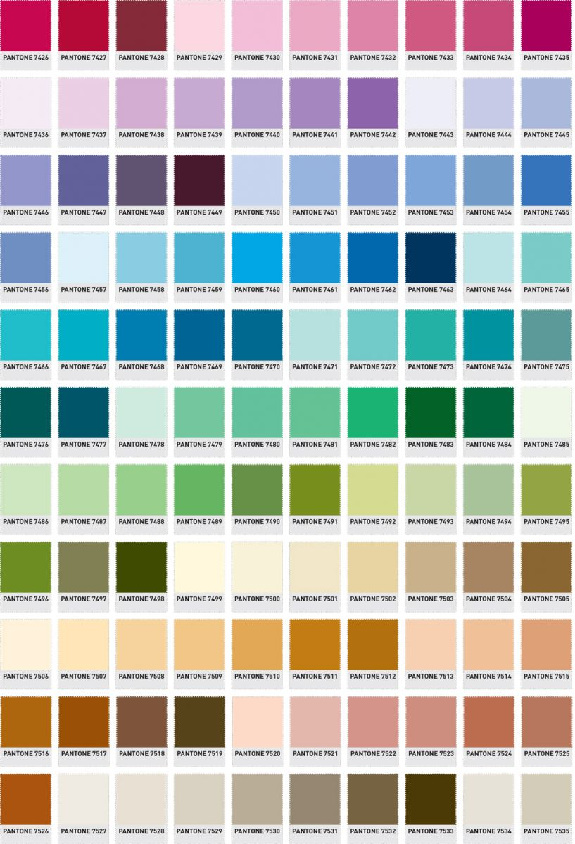 pantone colour guide the printed bag shop pantone numbers. Black Bedroom Furniture Sets. Home Design Ideas