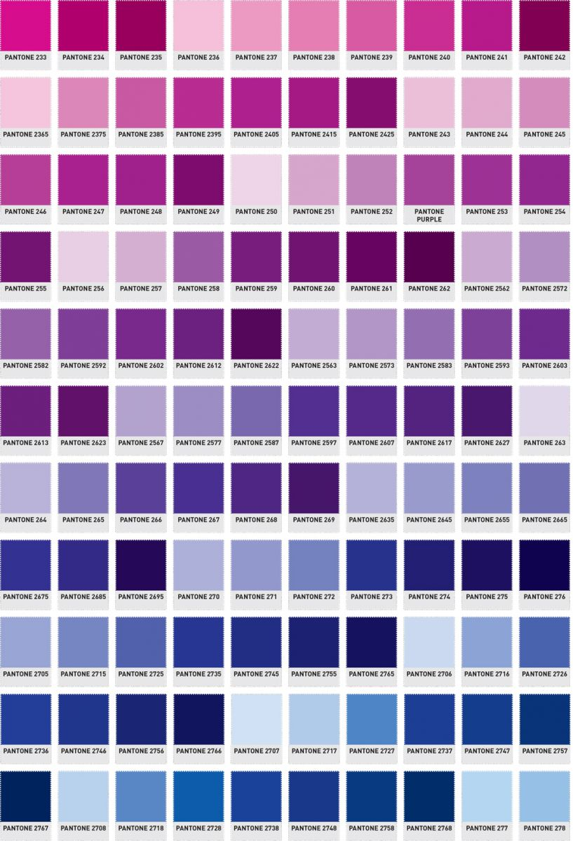 Pantone Colour Guide The Printed Bag Shop Pantone Numbers