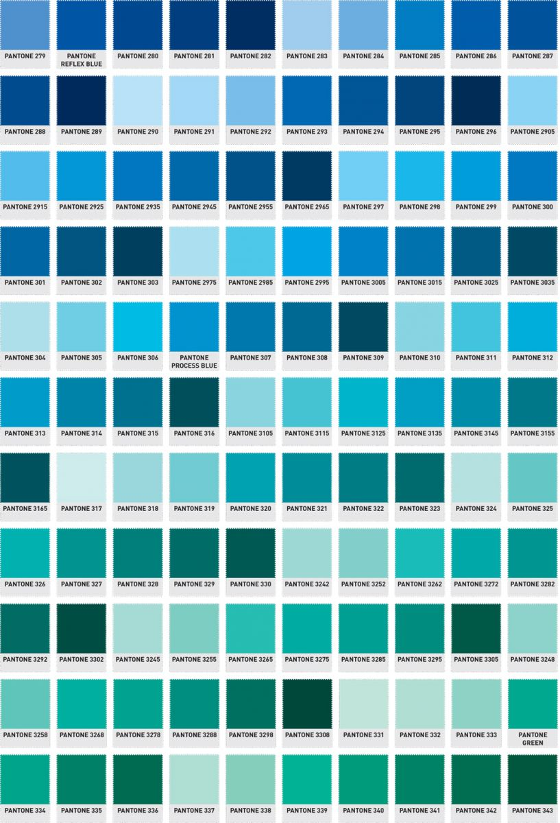 Pantone blue color chart for Where to buy pantone paint