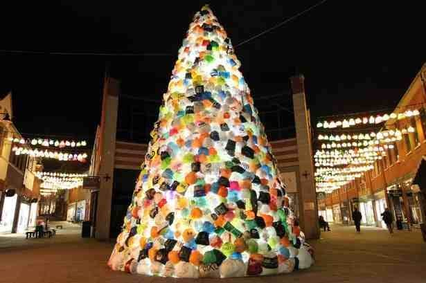 Cool Christmas Trees.Carrier Bag Christmas Tree Set To Light Up Durham Lumiere