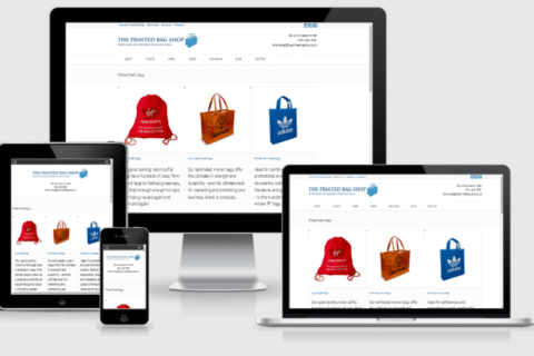 printed bag shop responsive website