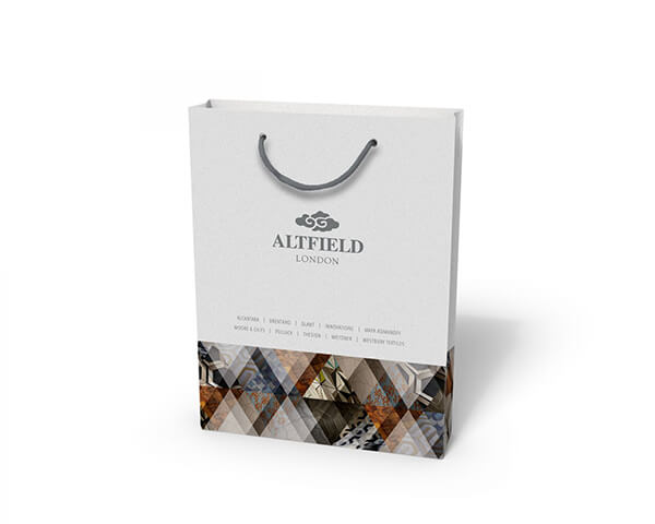 Altfield London custom printed laminated paper bag