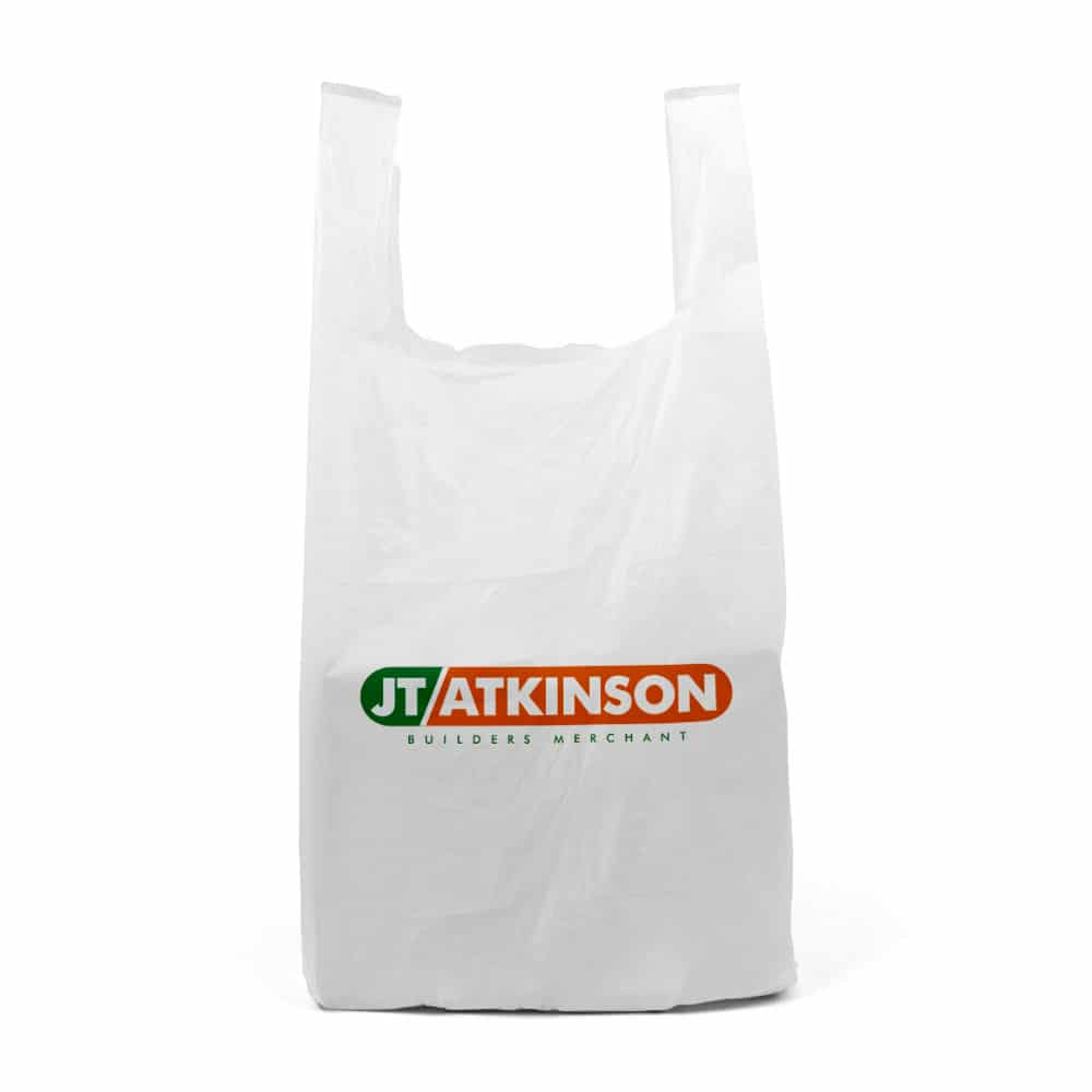 printed vest carrier bags