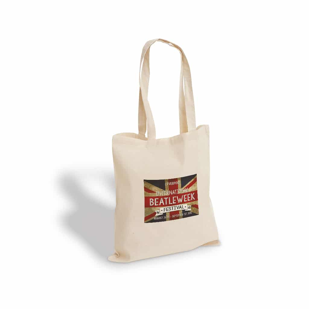 Beatle Week printed cotton bag