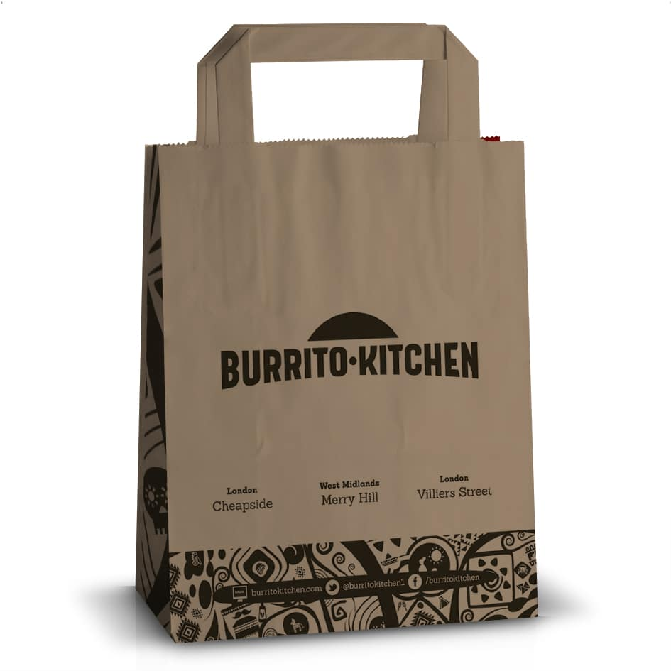 Burrito Kitchen custom printed bag