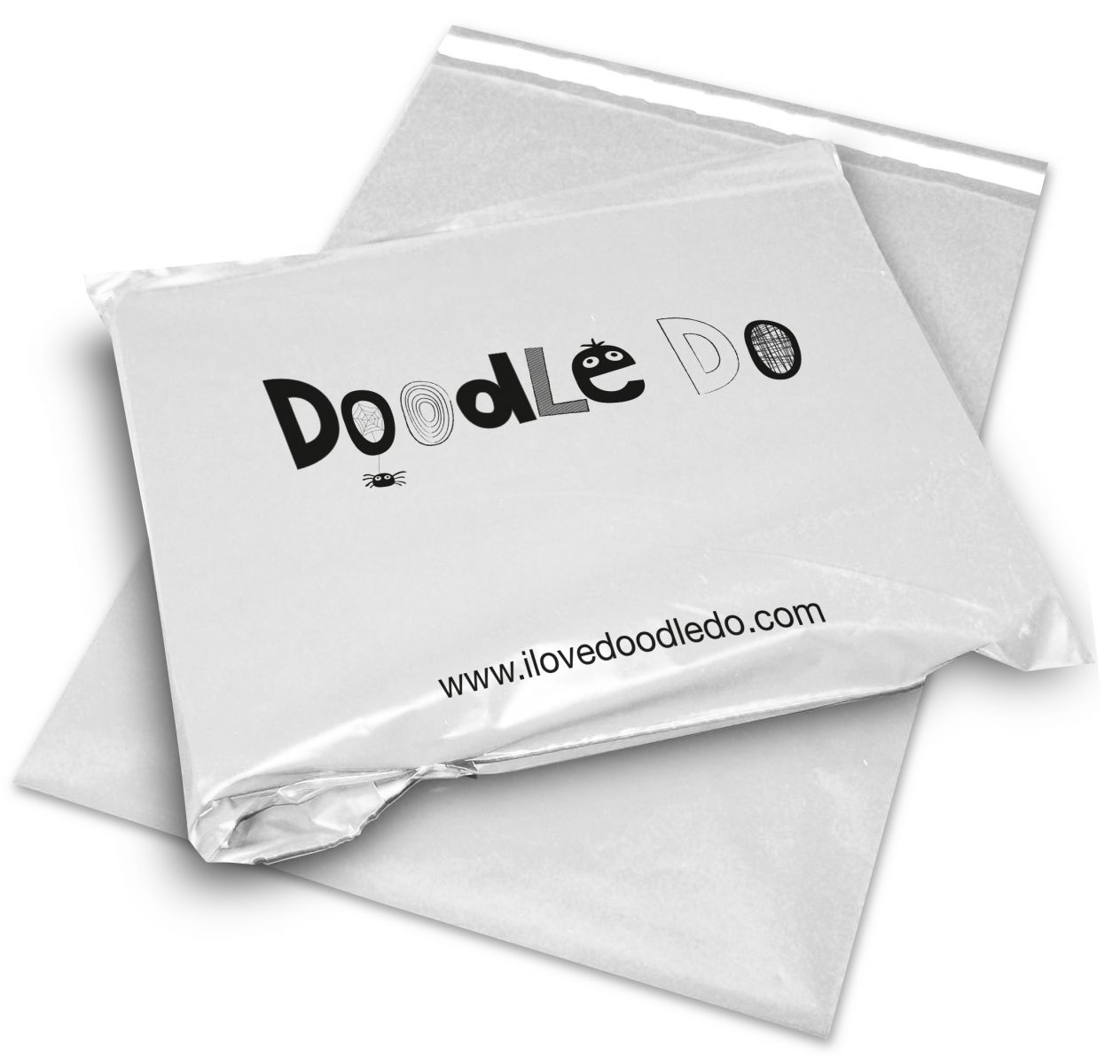 Doodle Do printed mailing and postal bag