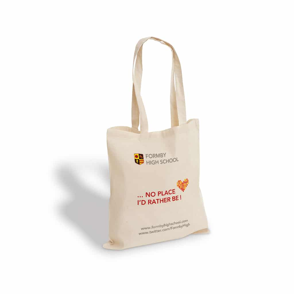 Formby High School printed cotton bag