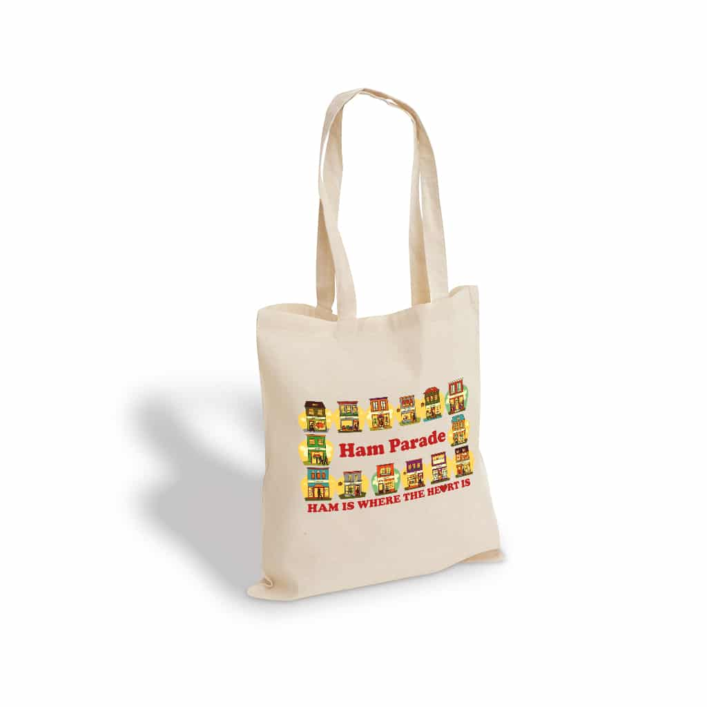 Ham Parade cotton tote bag