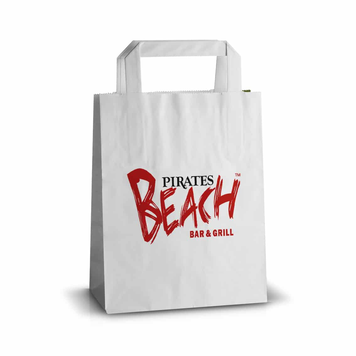 Pirates Beach printed carrier bag