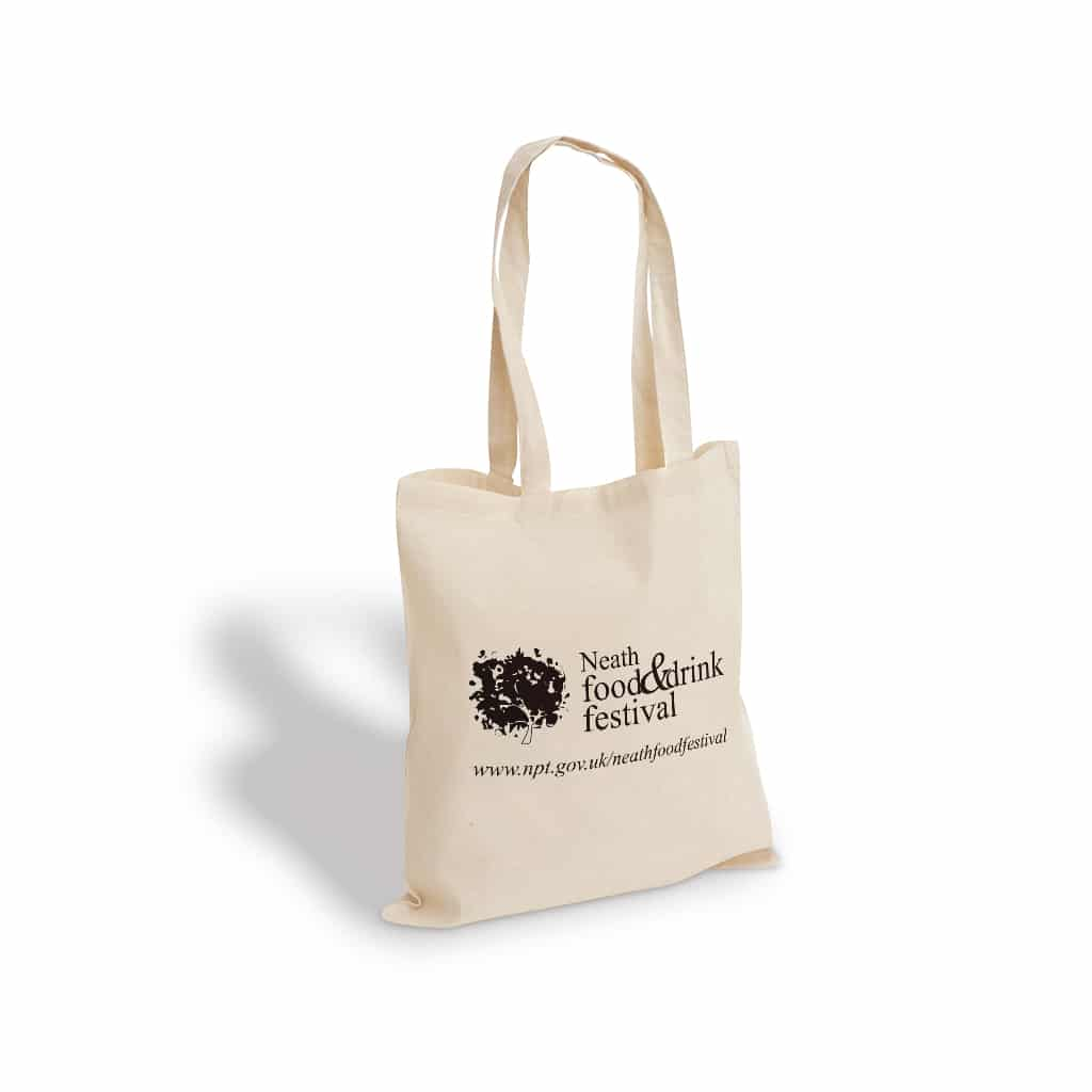 Neath food and derink festival printed cotton bag