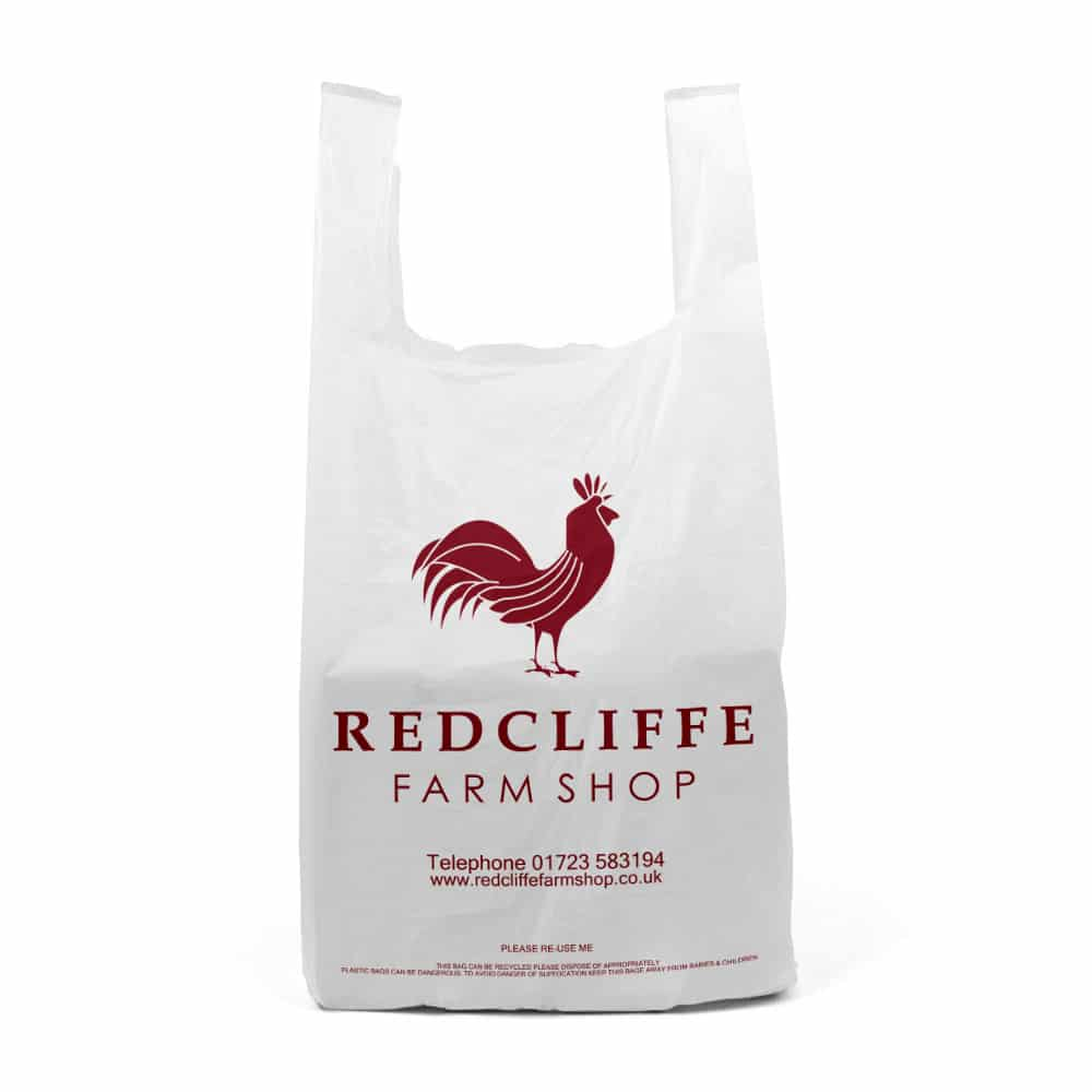 printed plastic carrier bags