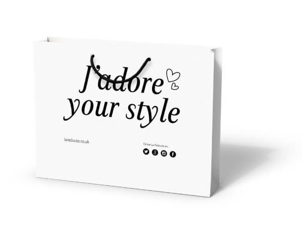 La Redoute custom printed laminated paper bag