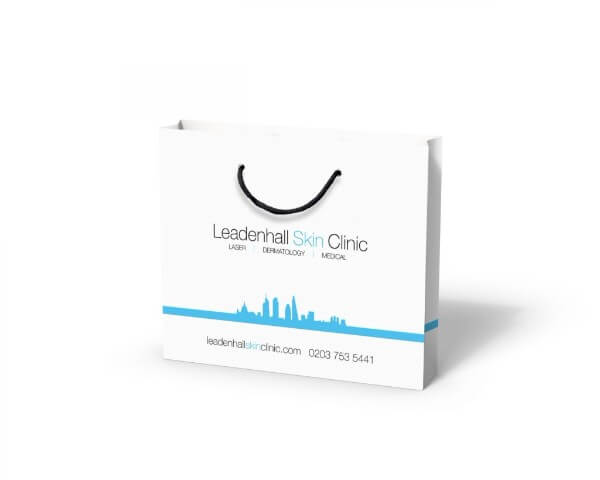 Leadenhall clinic custom printed laminated paper bag