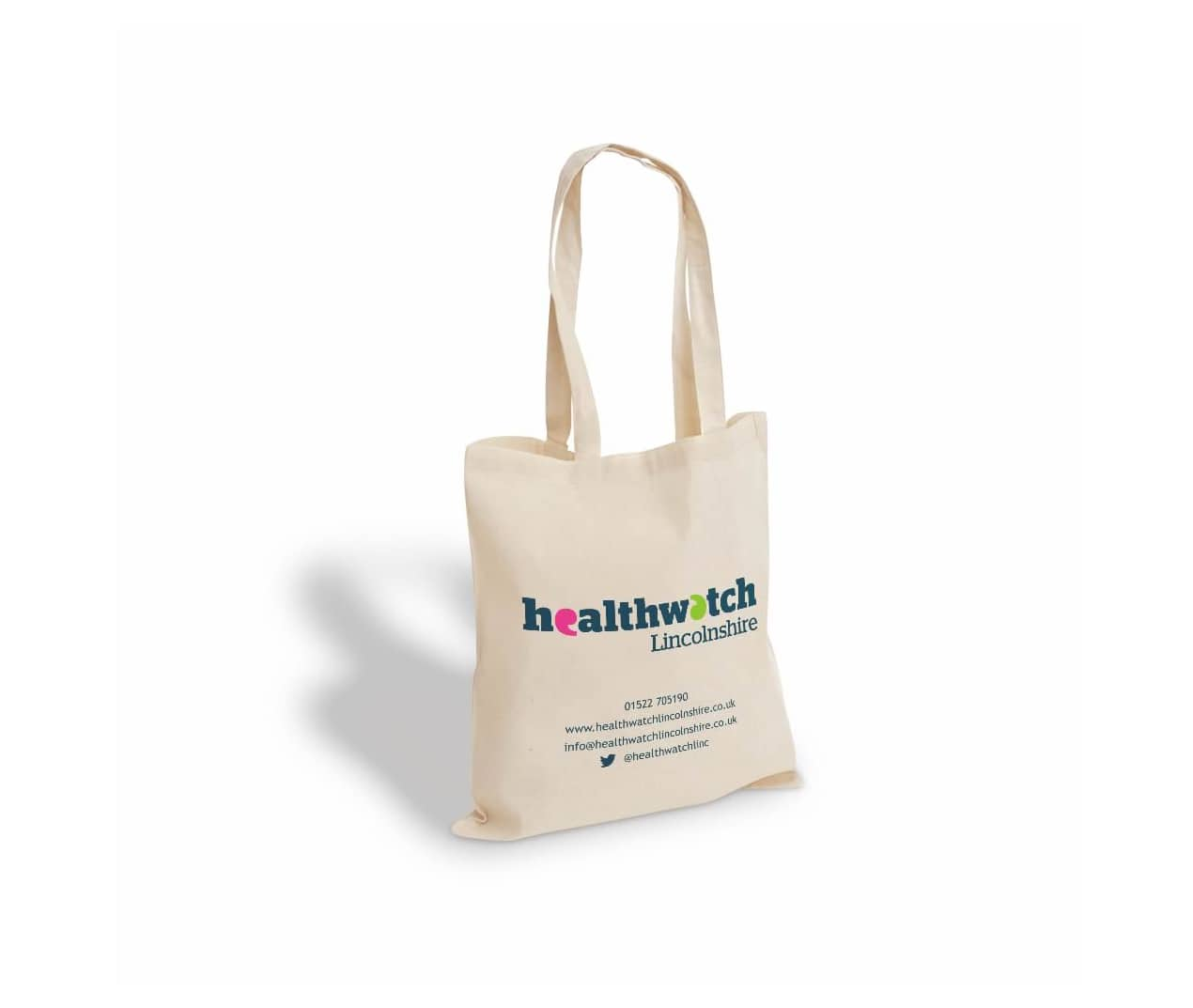 Healthwatch printed cotton bag