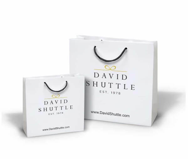 David Shuffle custom printed laminated paper bag