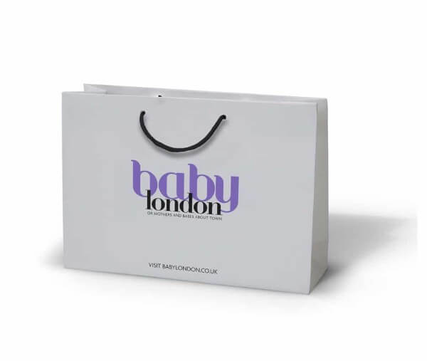 Baby London printed laminated paper bag