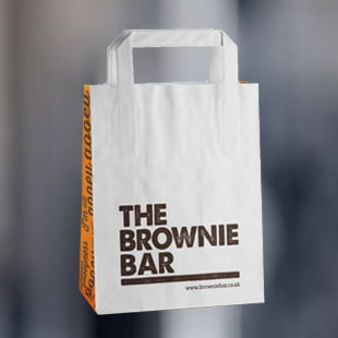 The Brownie Bar Printed Flat Handle Bag