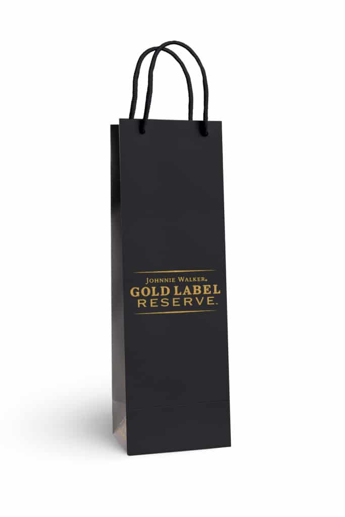 Johnnie Walker custom printed laminated bottle bag