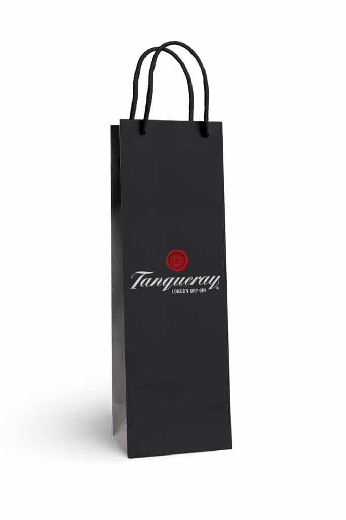 Tanqueray custom printed laminated bottle bag