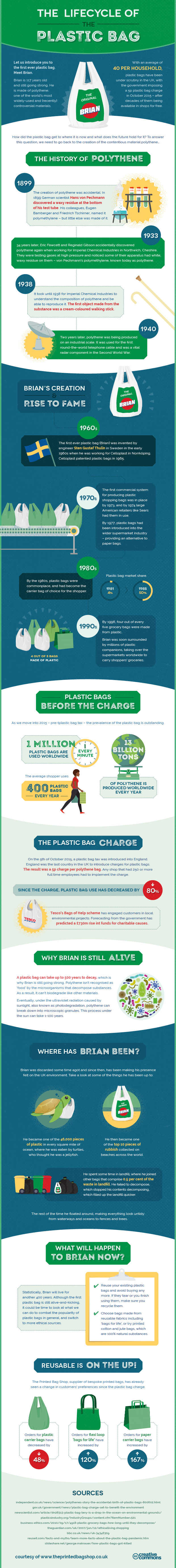Lifecycle of a plastic bag