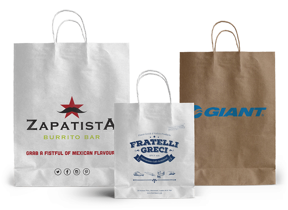 Bespoke paper carrier bags