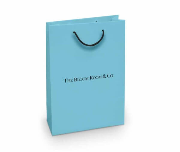 Bloom Room custom printed paper bag