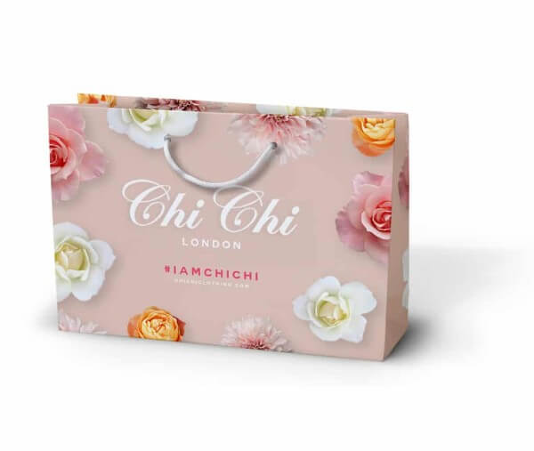 Chi Chi London custom printed laminated bag