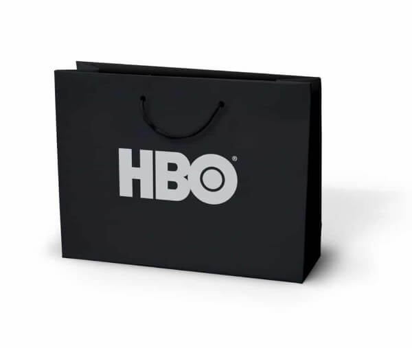 HBO printed laminated paper bag