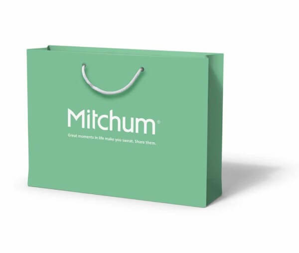 Mitchum custom printed laminated paper bag