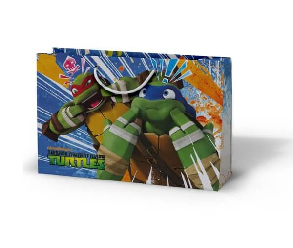 Ninja turtles custom printed laminated paper bag