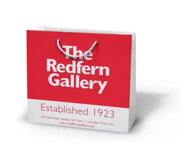 The redfern custom printed laminated paper bag
