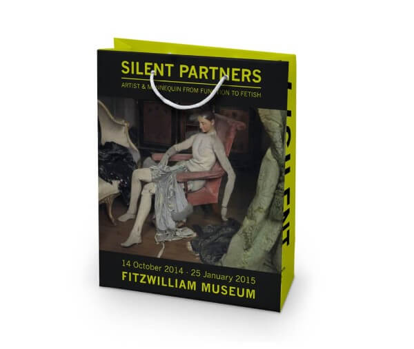 Silent partners printed paper bag