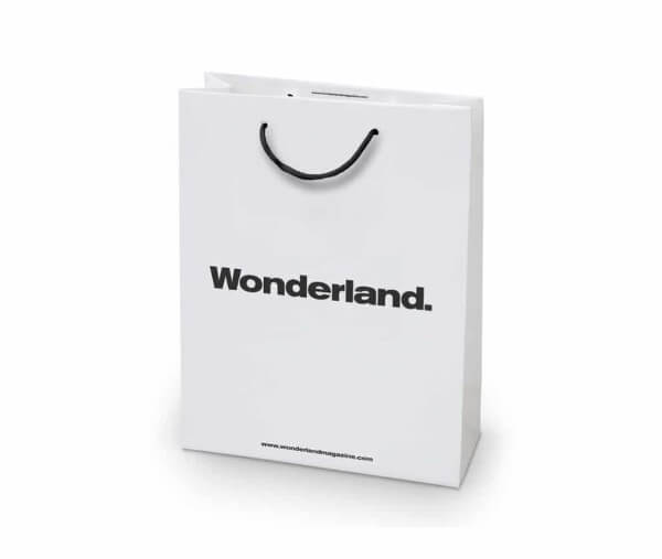 Wonderland custom printed paper bag