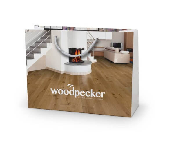 Woodpeck custom printed laminated bag