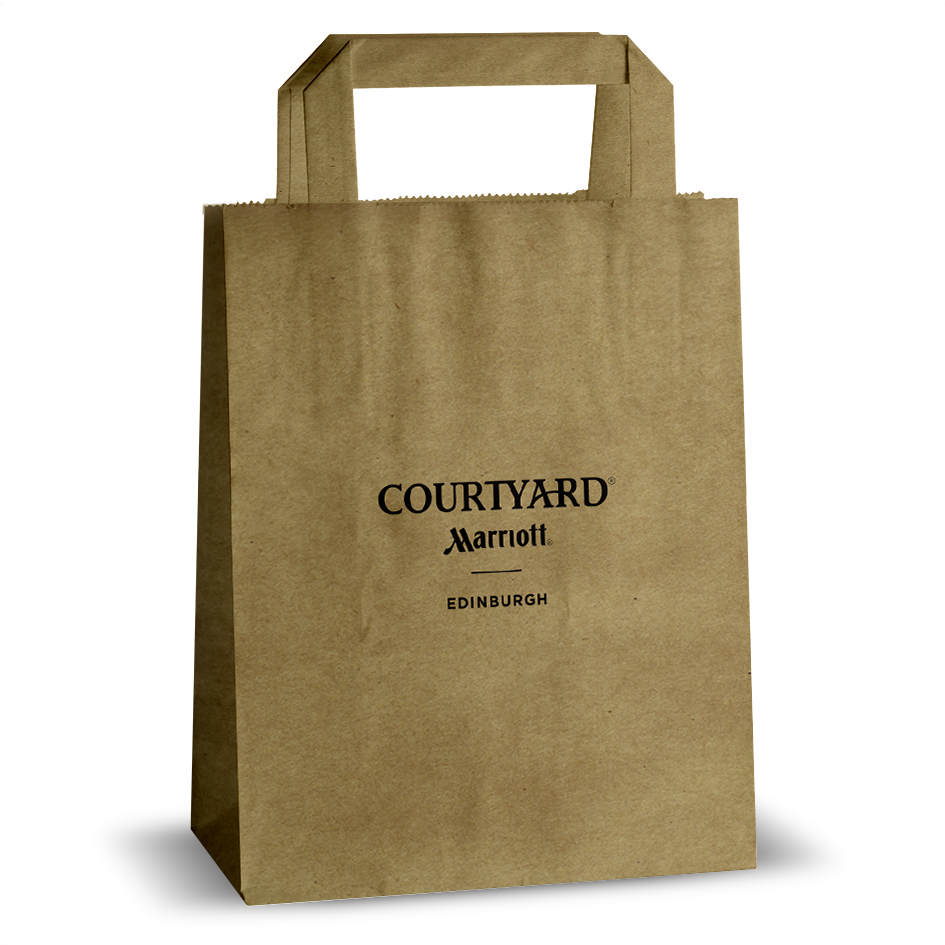 Courtyard MarriottEdin flat handle paper bag