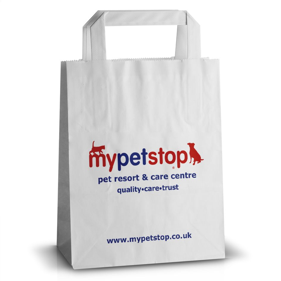 MyPetsStop flat handle paper bag