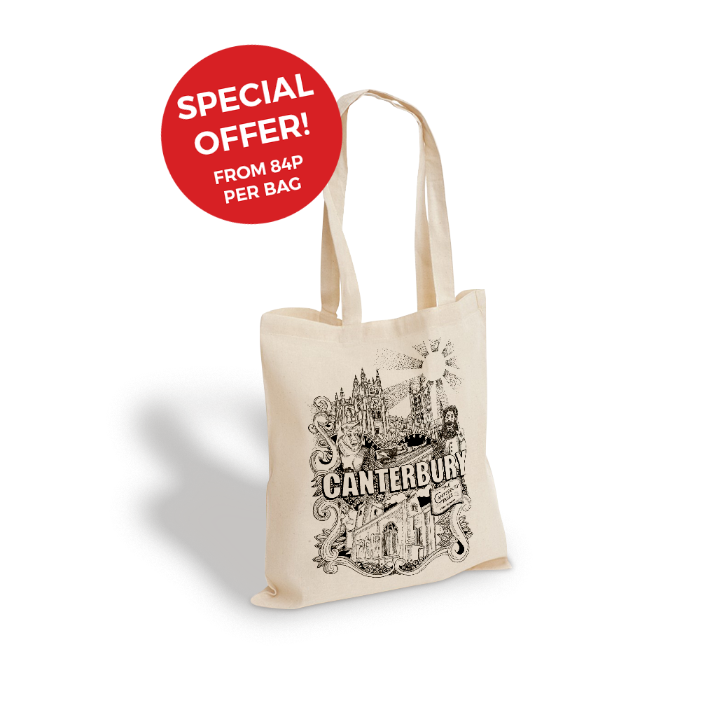 Printed Cotton Bags From 84p Per Bag 48 Hour Delivery