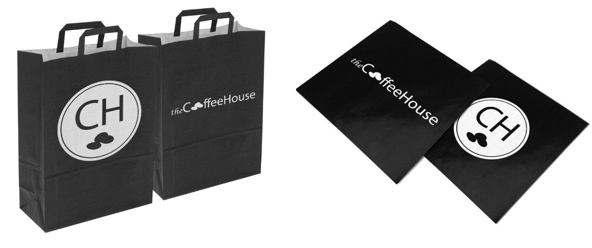 printed coffee shop bags