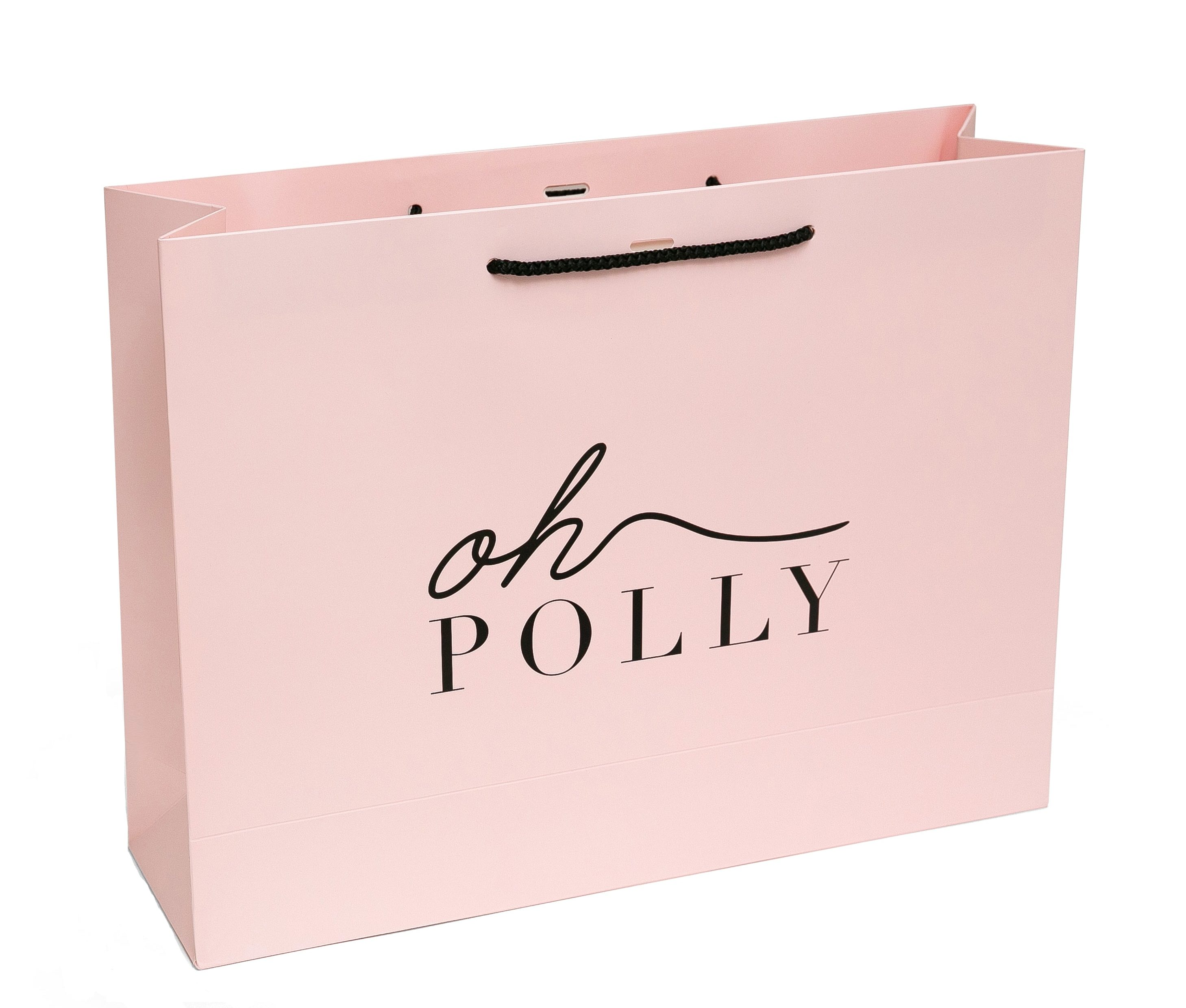 Oh Polly laminated handmade paper bag