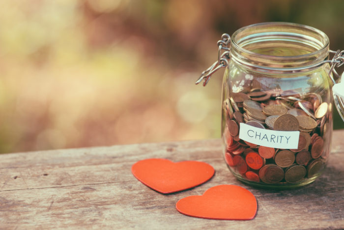 Charity Pot With Love Hearts