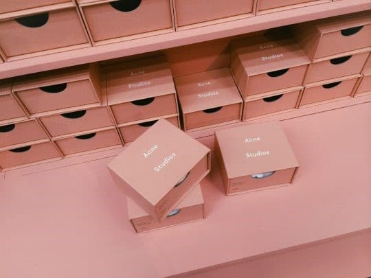 Pink Acne Studios Packaging