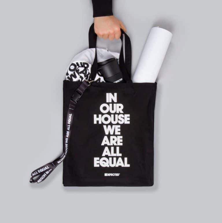 Black Printed Cotton Bag
