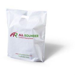 All rounder white punched handle bag