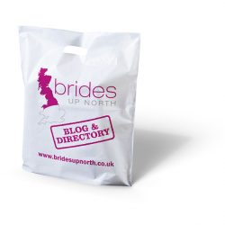 Brides up north white punched handle bag
