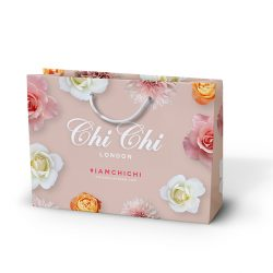 Chi Chi laminated flower paper bag