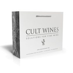Cult wines white laminated bag
