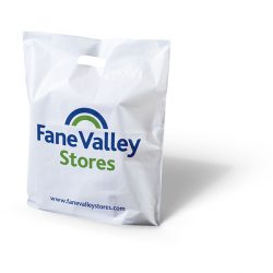 Fane valley stores white punched handle bag